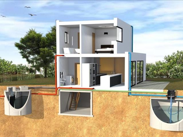 woning huis regenput prefabkelder water Obeton20150123_schaduw