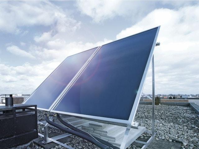 Zonneboilersysteem zonnepaneel zonneboiler zonnecollector