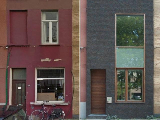 gevel gevelsteen gevelstenen huis woning na-isolatie esoleren bis 2017 voor en na