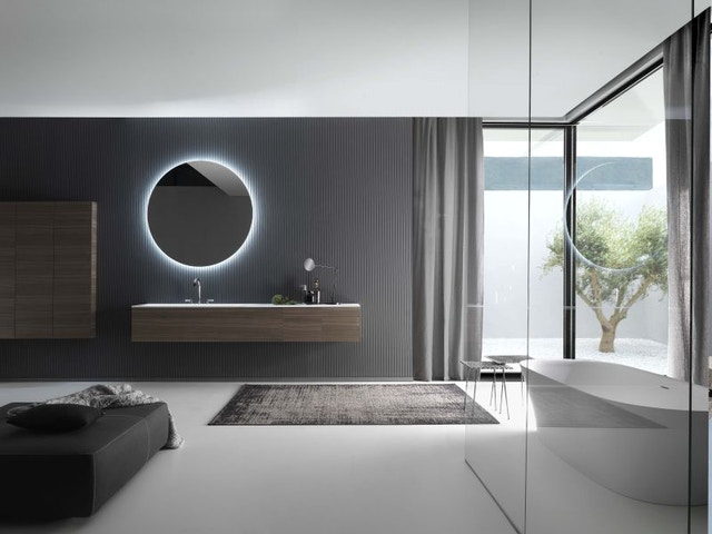 Pure Falper badkamer badkamermeubel vrijstaand bad wastafel lavabo badkamerkraan kraan