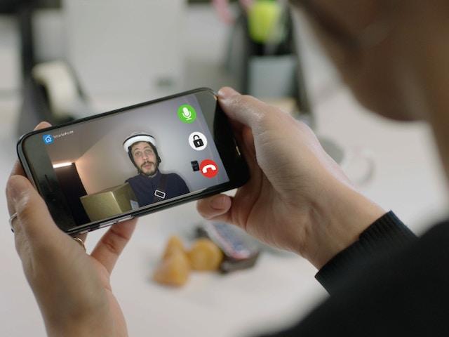 smarthpone deur videofoon