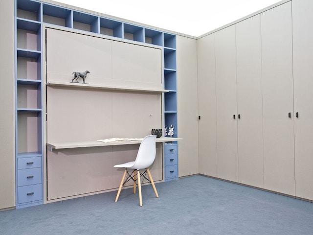 logeerkamer multifunctioneel bed bureau