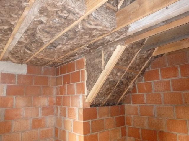 glaswol gepropt isolatie dak
