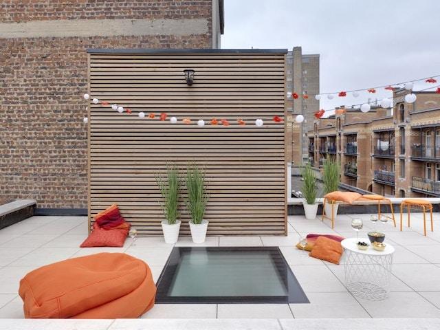 terrasse sur le toit terrasse à débordement
