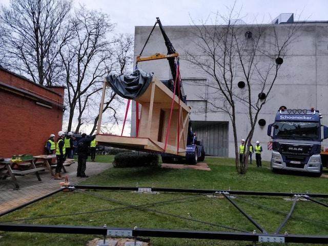 Ugent pavillon module bois
