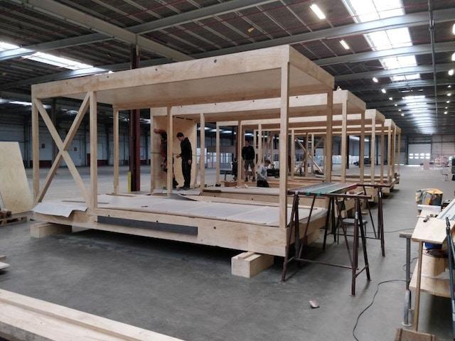 Ugent pavillon modules bois