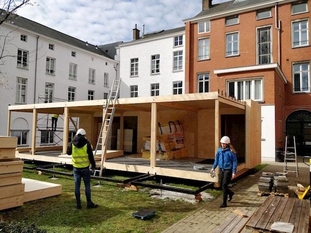 Ugent Pavilion isolation en bois modulaire