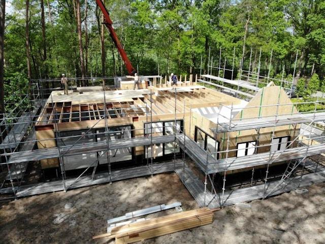 huis werf houtskeletbouw houtskelet woning nieuwbouw bouwtechniek