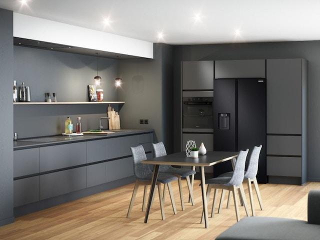 donkere keuken legplanken
