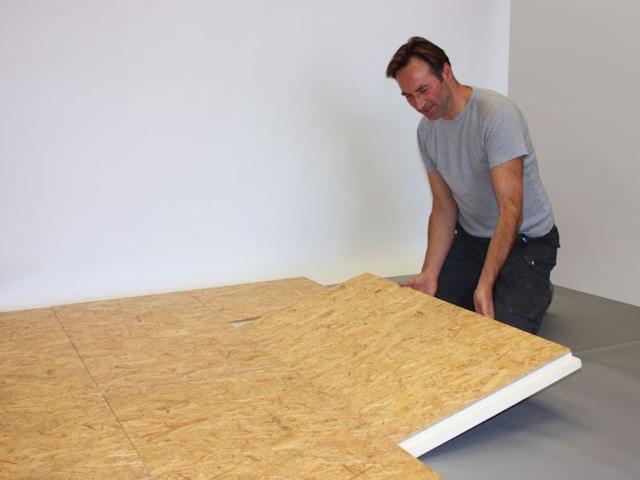 isolatie vloer vloerisolatie Iko enertherm isolatie Combi-floortoepassing