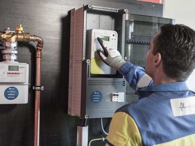digitale meter fluvius elektriciteit