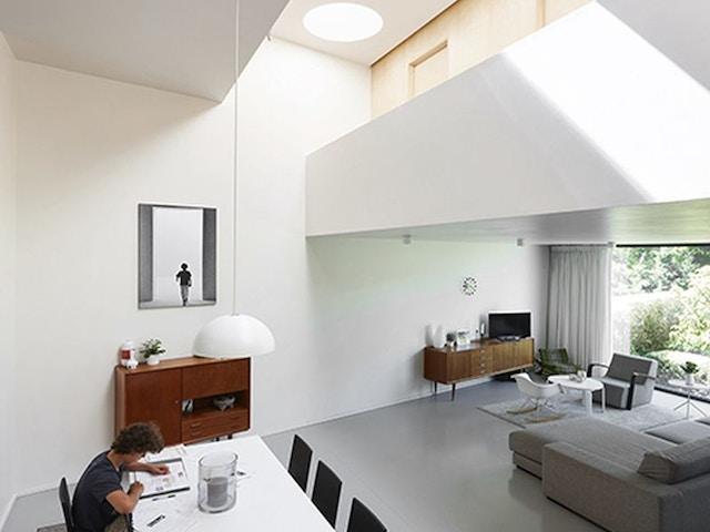koepel lichtkoepel dak daglicht plat dak interieur