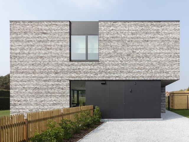 gevel gevelsteen gevelstenen nieuwbouw huis Vandersanden Wapper Snowdust