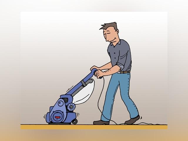 6218 houten vloer opschuren