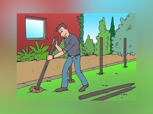 7822 Natuurlijke tuinafsluiting maken met vlechtwerk