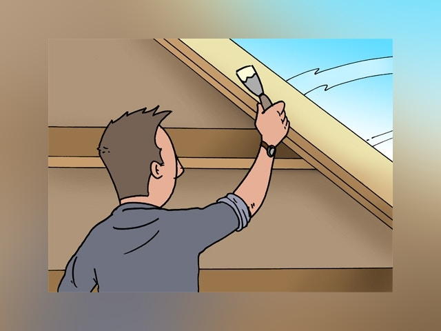 8043 dakraam plaatsen in hellend dak