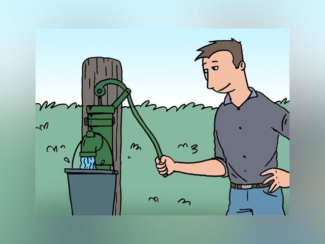7395 réservoir d'eau de pluie (avec pompe) install