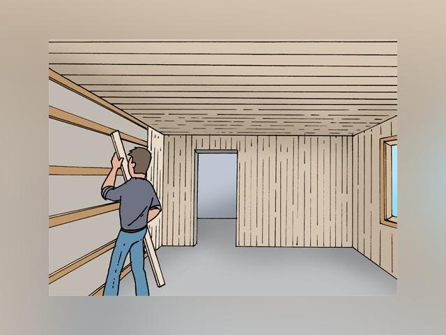 8617 Wand- en plafondplanken plaatsen