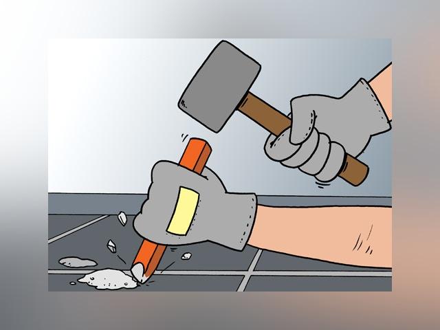 9094 cementresten verwijderen