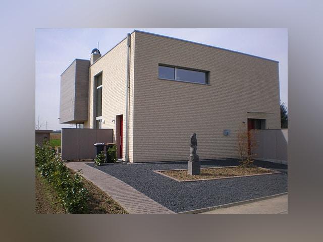 passiefhuis witte gevelsteen Ortelius