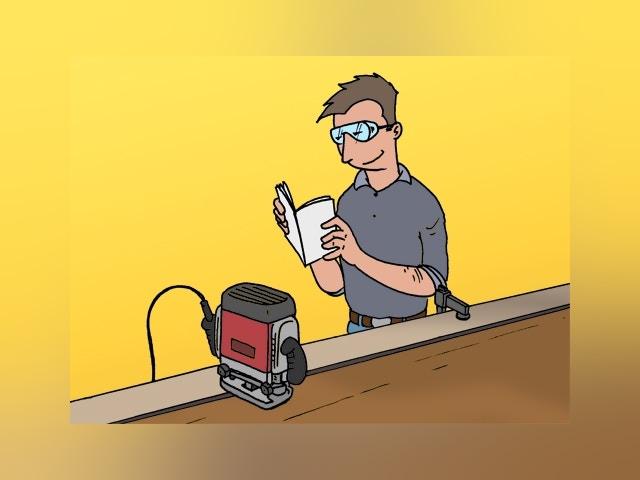 8187 Werken met een bovenfreesmachine