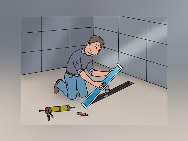 8933 inloopdouche maken op ondervloer