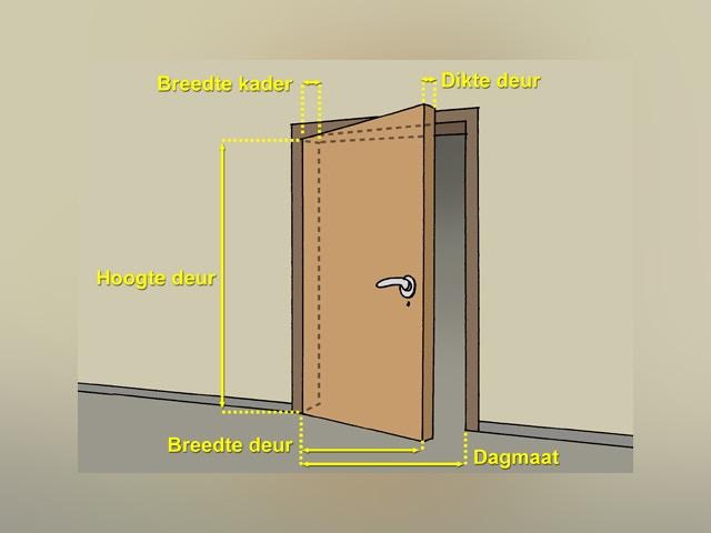 10053 Houten deurkader maken