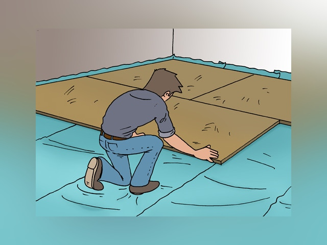 5309 Isolerende ondervloer leggen