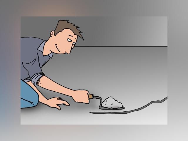 10192 scheur in betonvloer herstellen