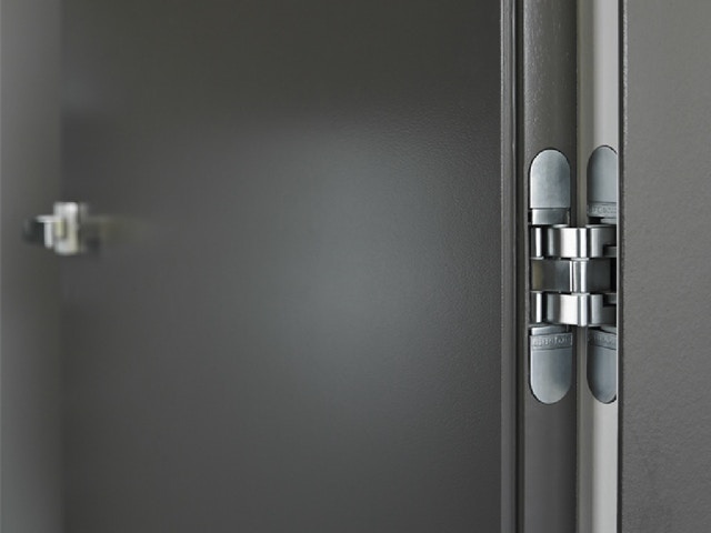 argent alu binnendeur deur invisible neo scharnieren