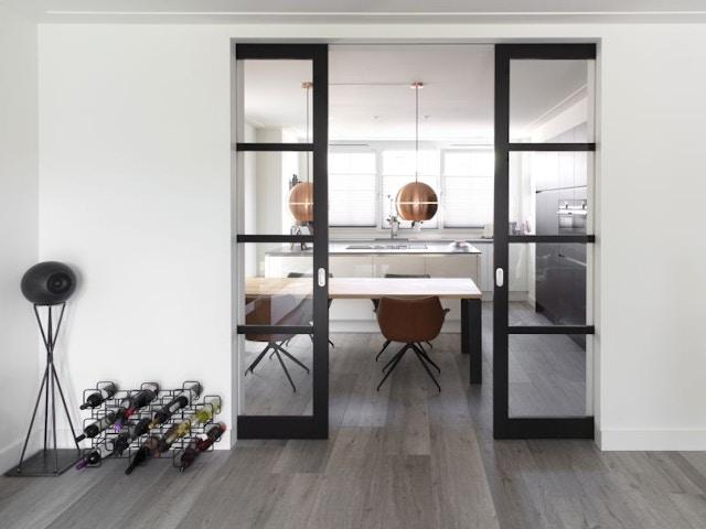 binnendeur deur schuifdeur keuken leefruimte