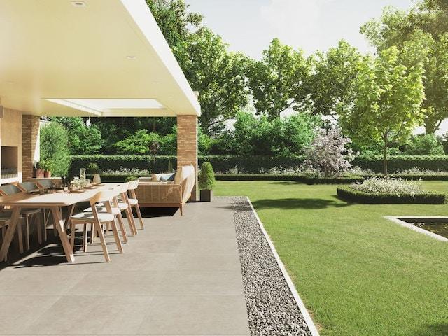 keramisch terras tuin