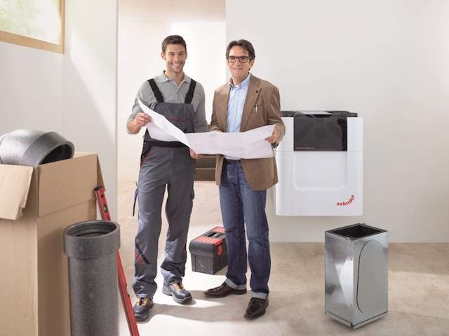 ventilatie ventilatiesysteem installateur technieker onderhoud CSYVentilationUnitComfoAirQinstallerplanningPrint28095