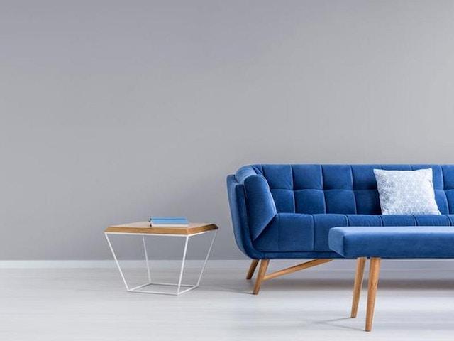 woonkamer zetel blauw