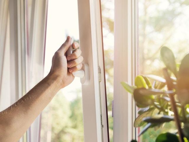 open raam ventileren binnnelucht