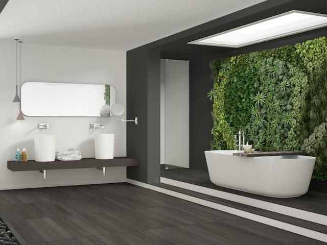 living wall groengevel interieur badkamer