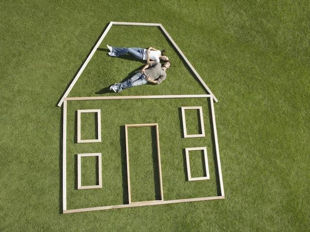 koppel woning groen grond bouwgrond huis