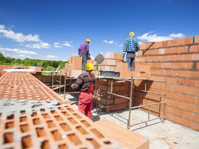 huis bouwen metselen werf ruwbouw
