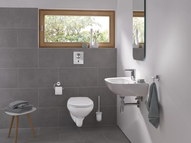 badkamer lavabo toilet wc Bau Cosmopolitan infrarood elektronische wastafelmengkraan chroom