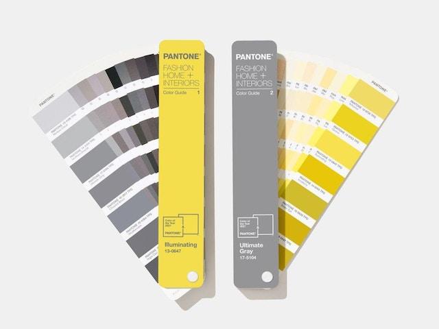 Pantone kleur van het jaar 2021 colour swatches