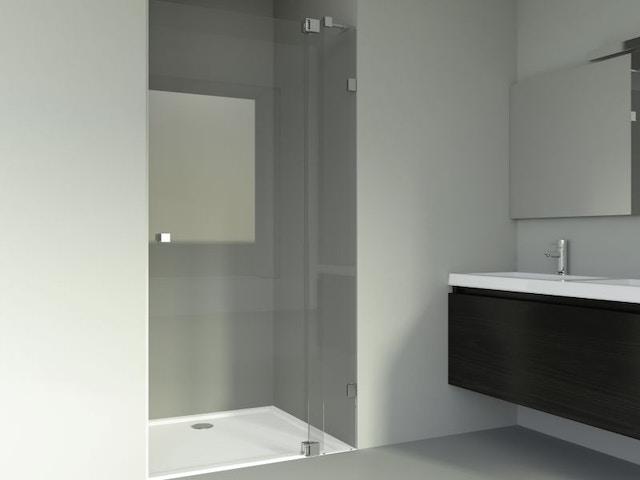 badkamer lavabo douche draaideur