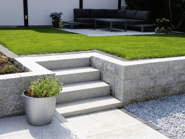 tuin helling trappen verhoging