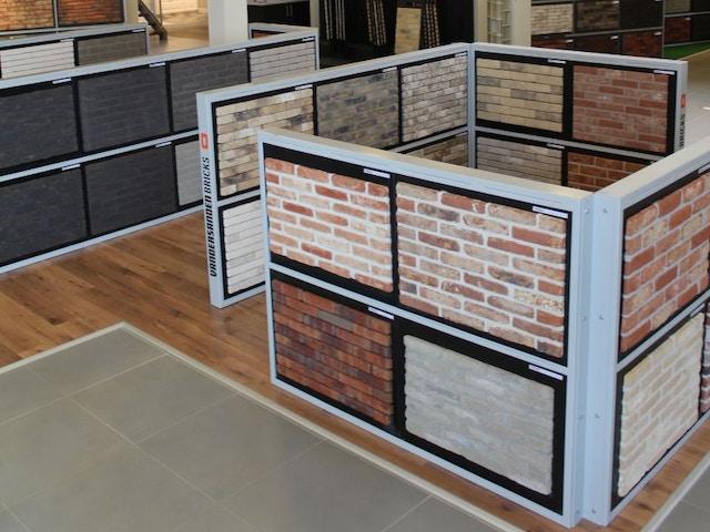 bouwmaterialen gevelstenen gevelsteen baksteen showroom