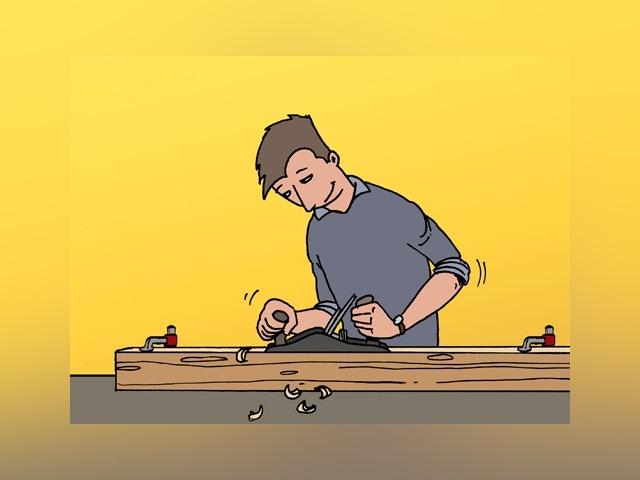 12469 Beschadigde plank in houten vloer vervangen