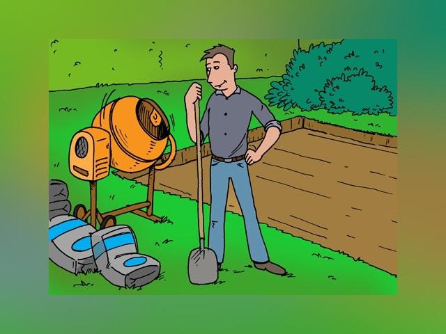 12468 betonnen dek gieten voor tuinhuis