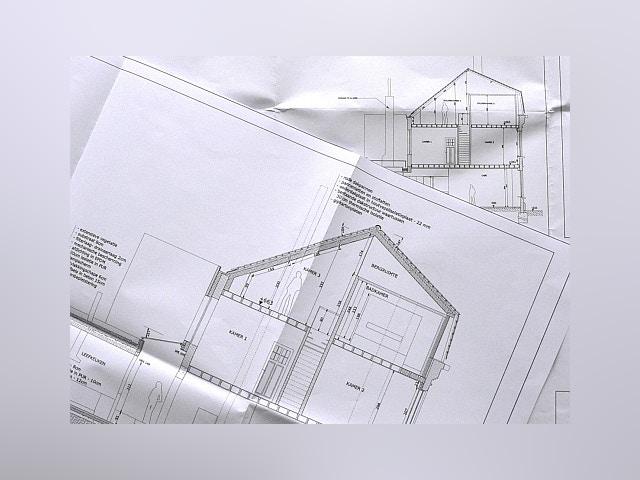 bouwplannen dwarsdoorsnede doorsnede plan plannen
