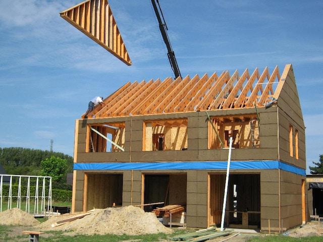 houtskeletbouw nieuwbouw huis werf houtskeletbouw