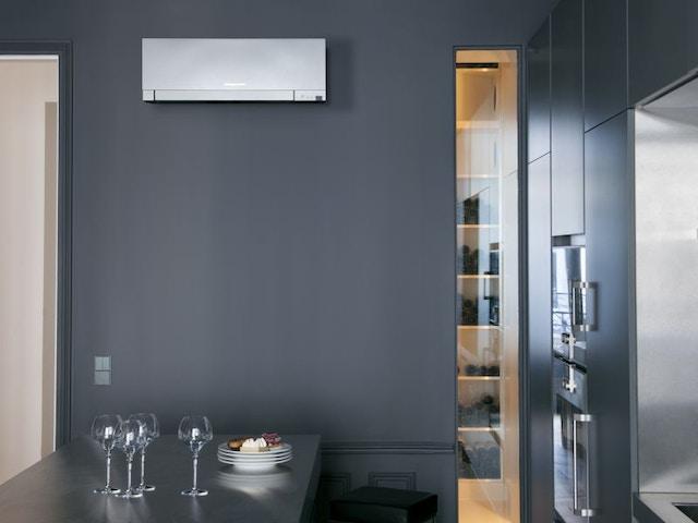 warmtepomp airco Design wandtoestel zilver2