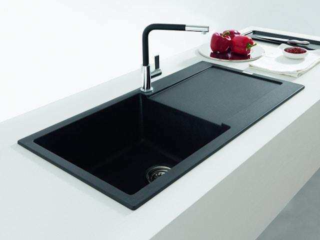 kraan keuken keukenkraan spoelbak Franke Fragranit XL