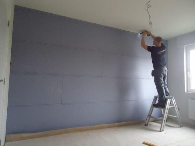 isolatie muur muurisolatie akoestische isolatie wand glaswol Isover Gyproc Soundblock